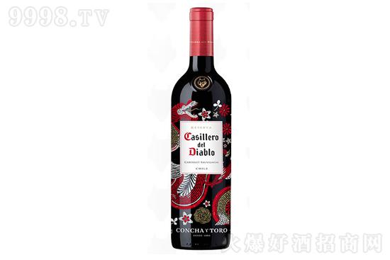 智利红魔鬼尊龙赤霞珠红酒干露葡萄酒750ml