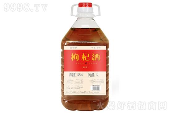 52°蓝香谷枸杞酒桶装酒枸杞泡酒5L价格,多少钱?