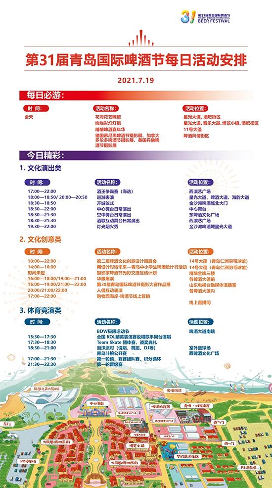 7月19日丨第31届青岛国际啤酒节活动预告