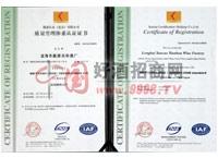 管理体系认证证书-漳州芗江酿酒有限公司