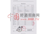 虎头蜂酒检验报告-漳州芗江酿酒有限公司