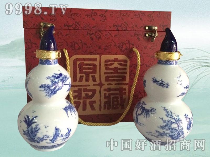 青花瓷宝葫芦散酒礼盒
