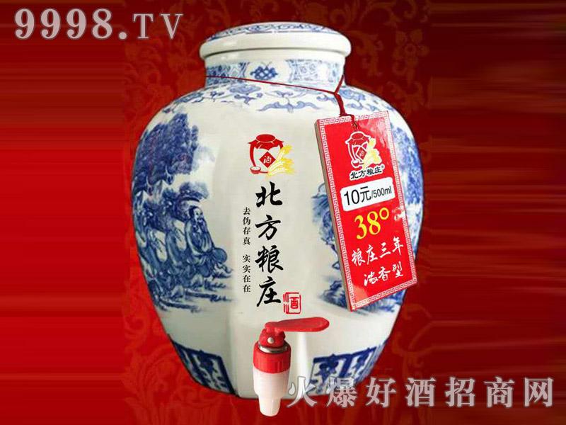 北方粮庄青花瓷坛酒・38度粮庄3