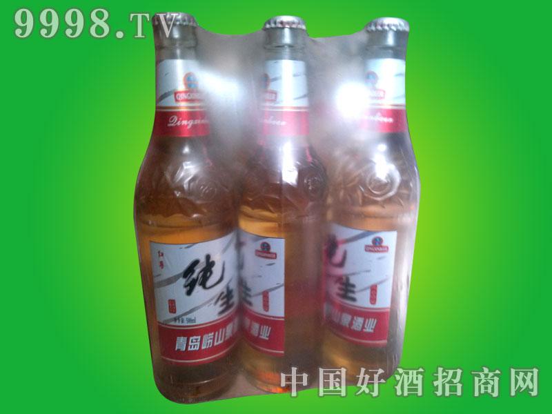 500ml白瓶红尊纯生啤酒塑包