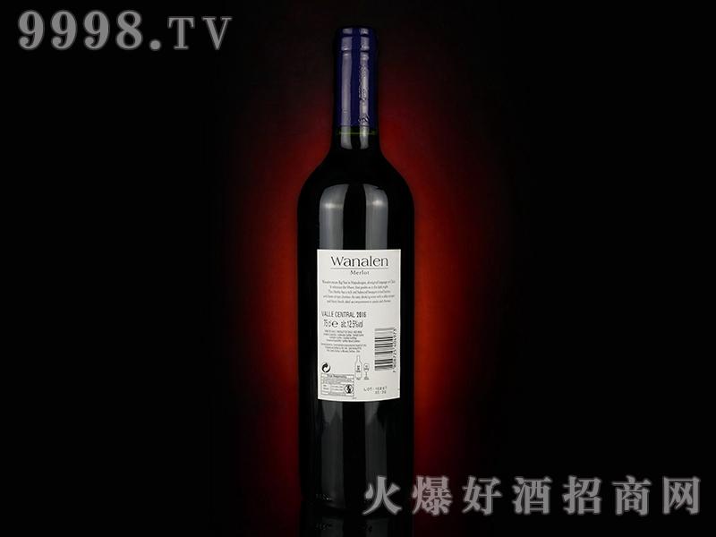 瓦纳伦梅洛葡萄酒(背标)