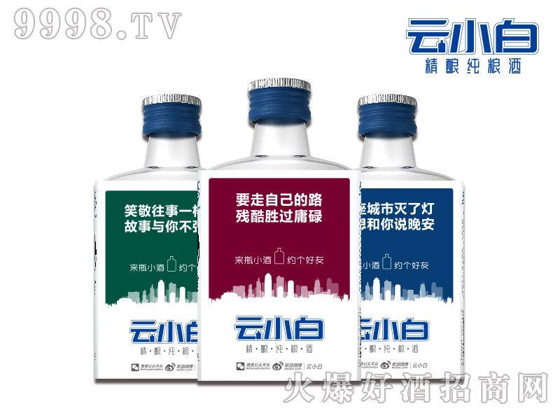云小白精酿纯粮酒迷你版100ml磨砂瓶