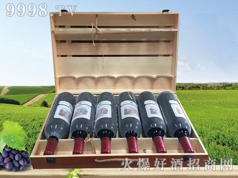 拉菲古斯波朗干红葡萄酒(扁木箱)