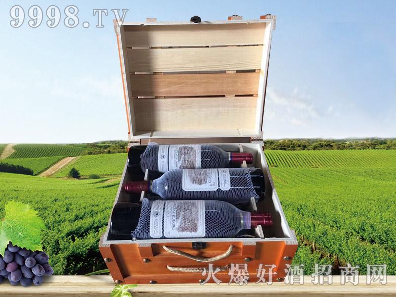 拉菲古斯波朗干红葡萄酒(方木箱)