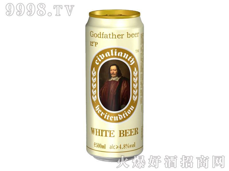 教父白啤酒罐500ml