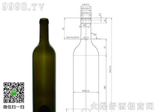 标准红酒瓶尺寸|红酒瓶图片