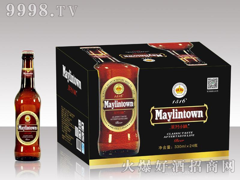 美林小镇啤酒330棕瓶