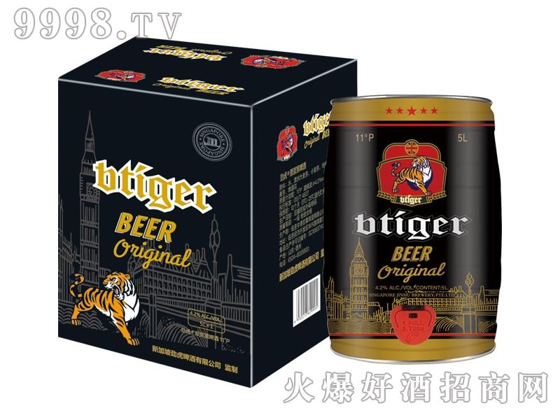 劲虎原浆黑啤酒5L