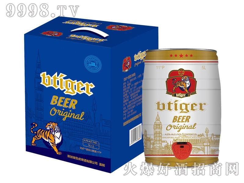 劲虎原浆白啤酒