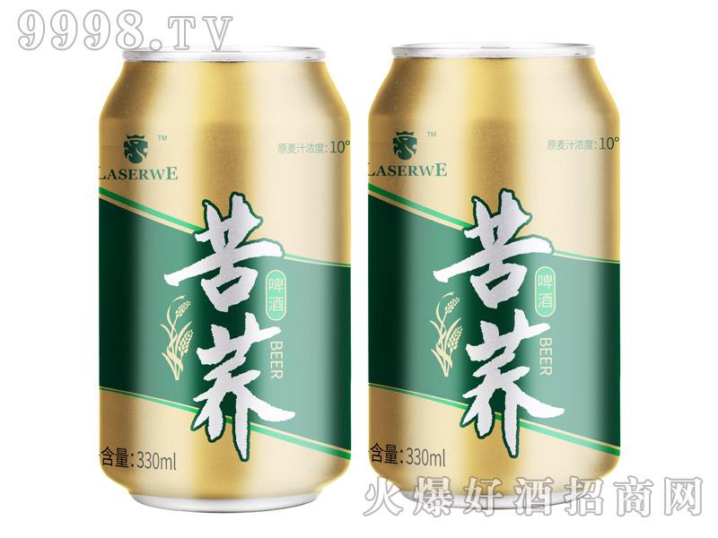 澜圣威苦荞啤酒10度330ml罐装