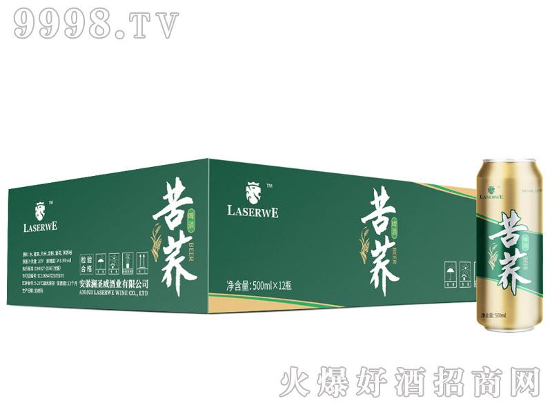 澜圣威苦荞啤酒10度500mlx12罐