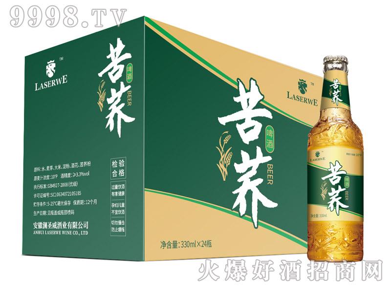 澜圣威苦荞啤酒10度330mlx24瓶