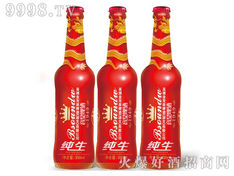 英博金龙泉・音皇纯生啤酒(正面)
