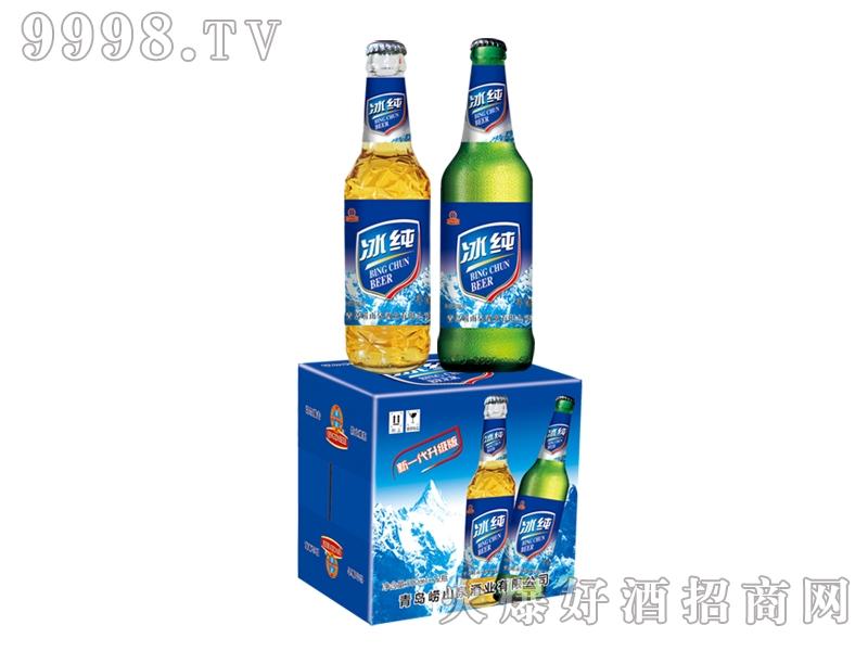 崂山泉冰纯啤酒500ml 1x12瓶