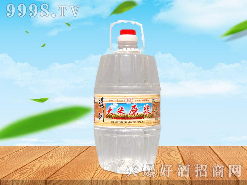 满洲大米原浆酒42°4L×4桶