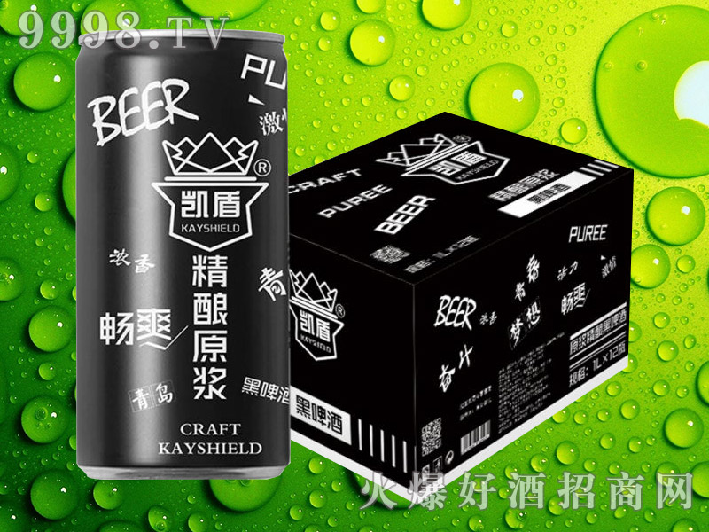 凯盾精酿原浆黑啤酒1000ml×12瓶
