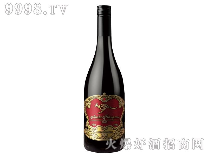 艾尼拉袋鼠西拉干红葡萄酒(勃艮第红标)