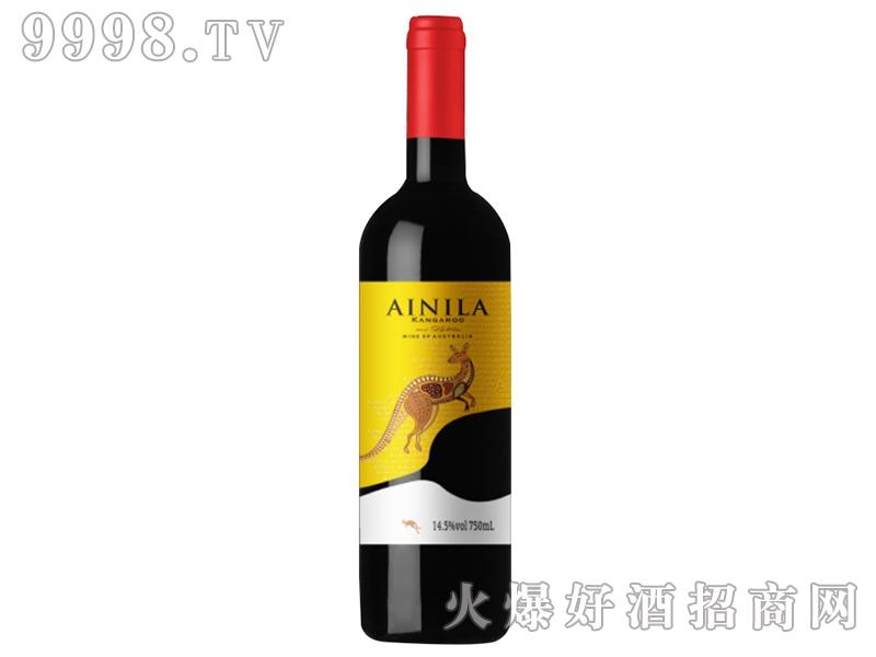 艾尼拉袋鼠西拉干红葡萄酒2015