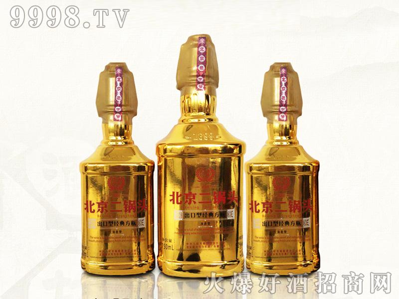 北京二锅头-出口型经典方瓶(金瓶)