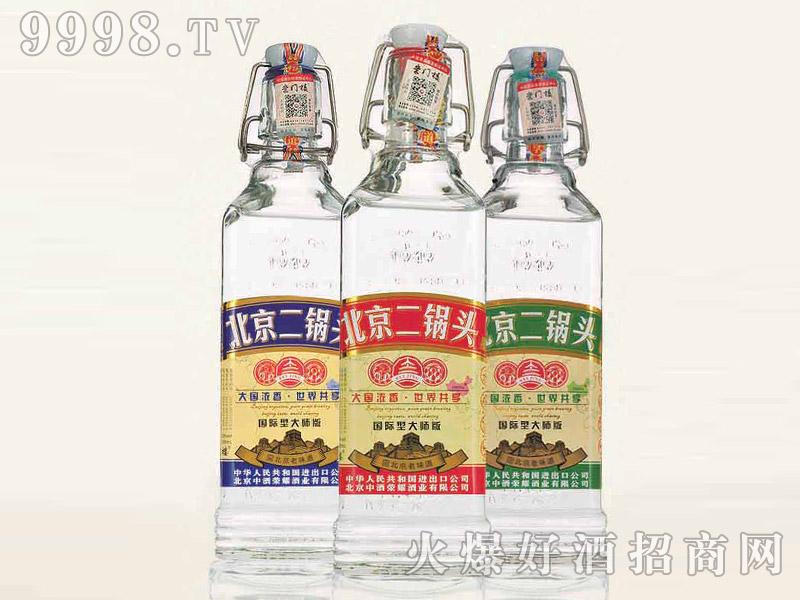 北京二锅头酒出口型小方瓶(大师版)42°500ml浓香型白酒