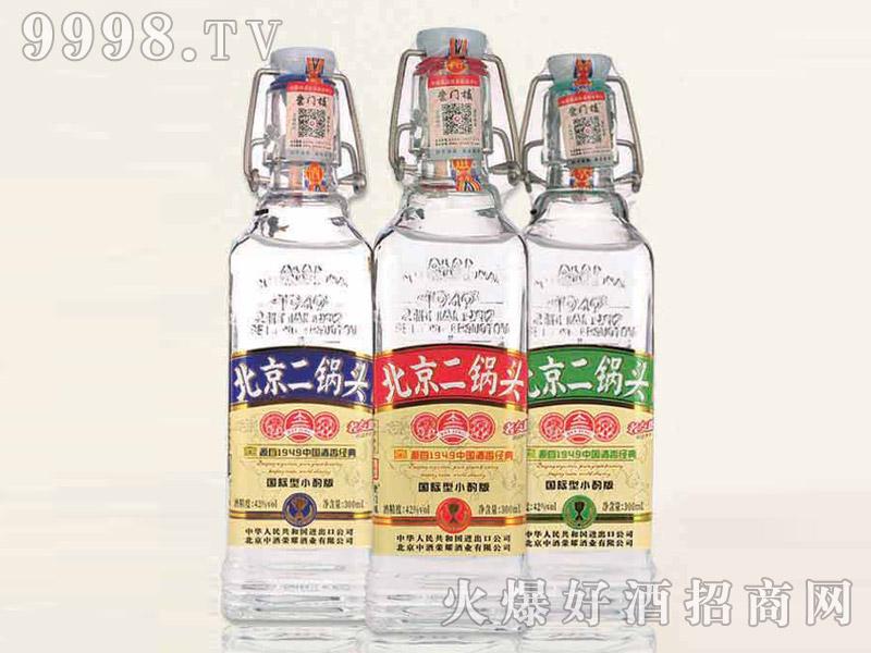 北京二锅头酒出口型小方瓶(小酌版)42°300ml清香型白酒