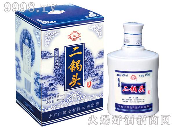 永定河二锅头蓝龙52°450ml清香型白酒
