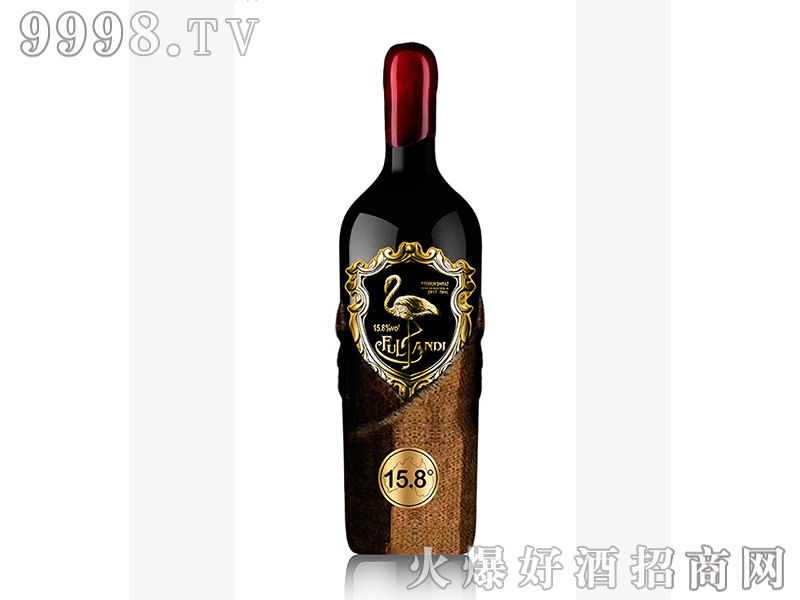 沃富・火烈鸟尊珀干红葡萄酒15.8度
