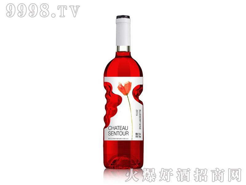 圣图花羽蓝莓酒8度