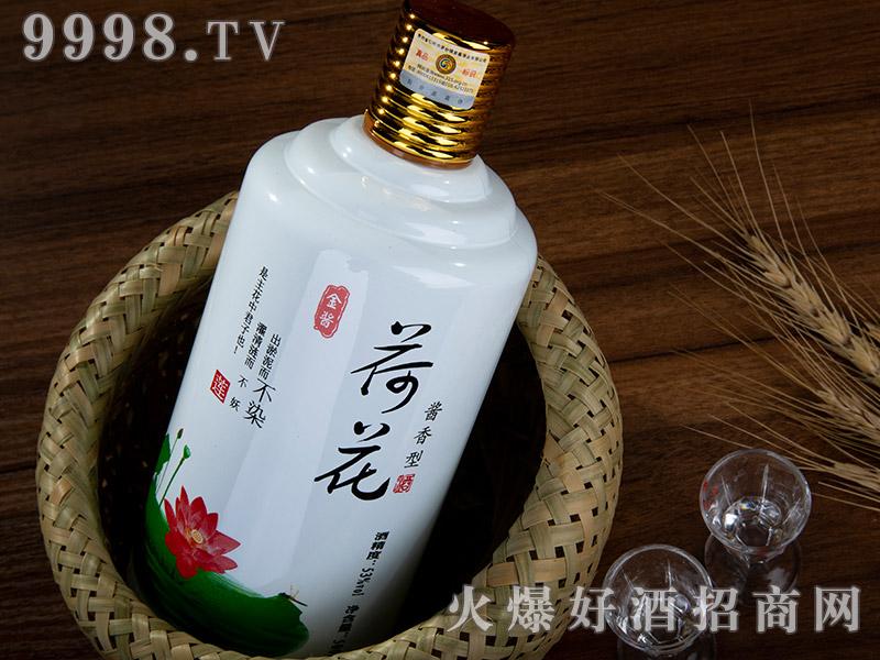金酱荷花酒(带杯)特写图