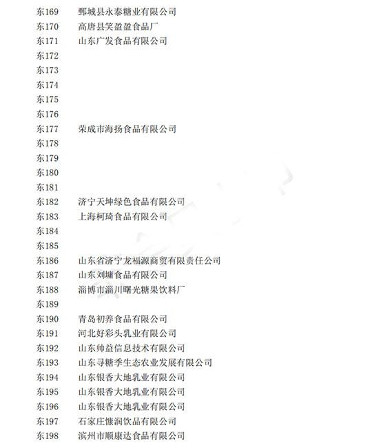2019山东春季糖酒会标准展位入驻企业名单