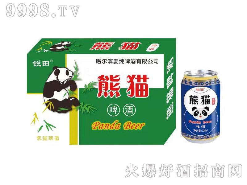 锐田熊猫啤酒320ml绿箱