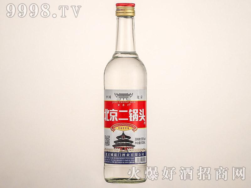京崇门北京二锅头酒光瓶清香型白酒【56°500ml】