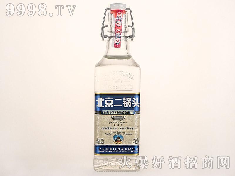 京崇门北京二锅头酒白方瓶清香型白酒【42°500ml】