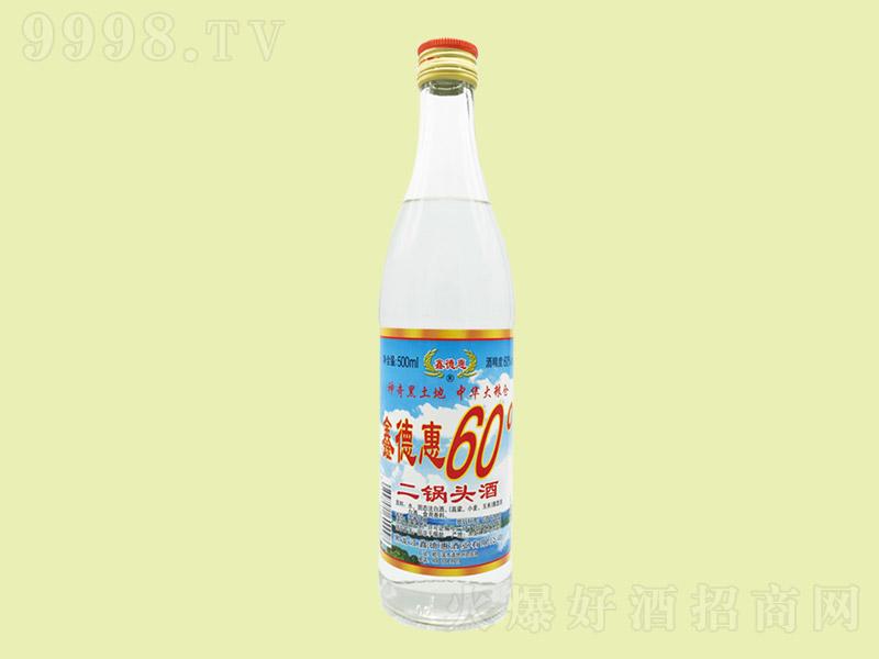 鑫德惠二锅头酒浓香型白酒【60°500ml×12】