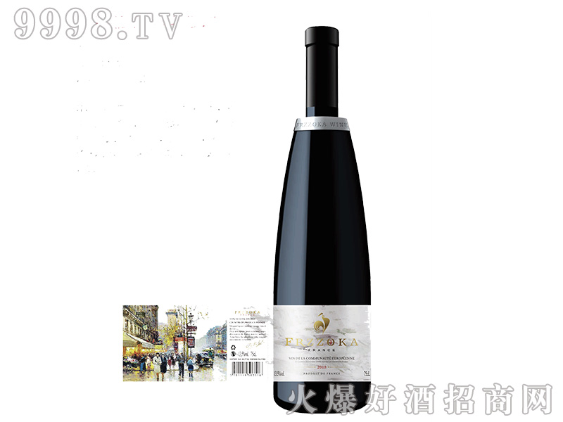法兰风情.小镇干红葡萄酒【13.5度750ml】