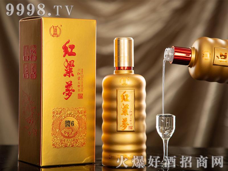 红粱梦酱6酱香型白酒【53度500ml】