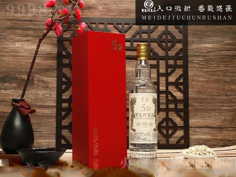 宝岛阿里山高粱酒白金龙【53度500ml】