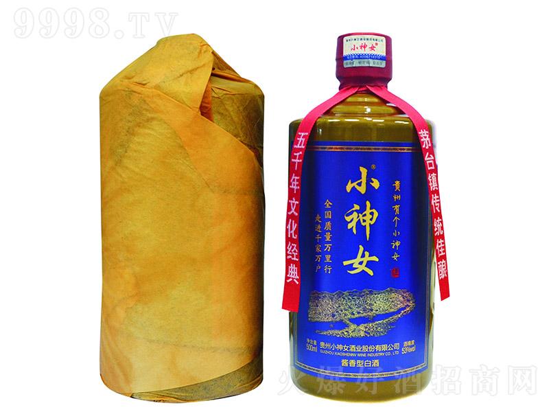小神女酒褐瓶酱香型白酒【53度500ml】