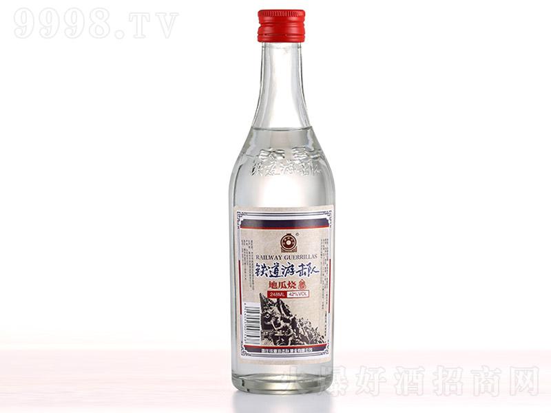 铁道游击队地瓜烧酒浓香型白酒【42°248ml】