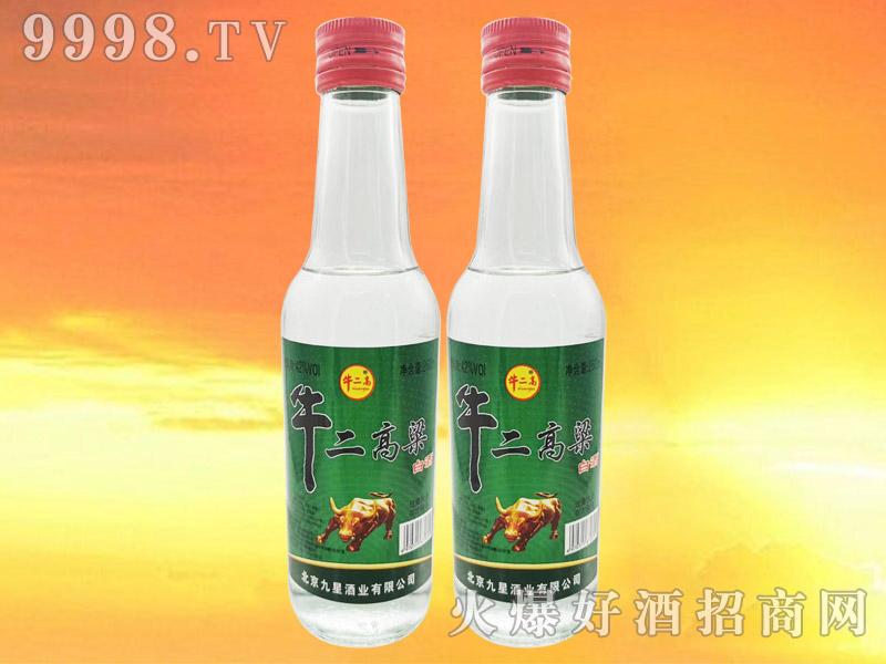 牛二高粱白酒42°260ml浓香型白酒