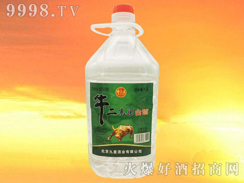 牛二高粱白酒42°4.5L浓香型白酒