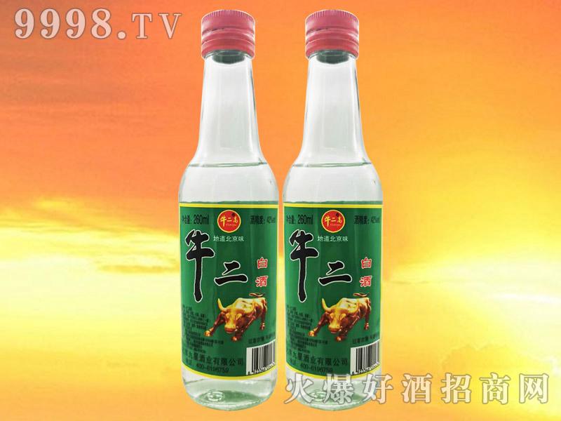 牛二高牛二白酒42°260ml浓香型白酒