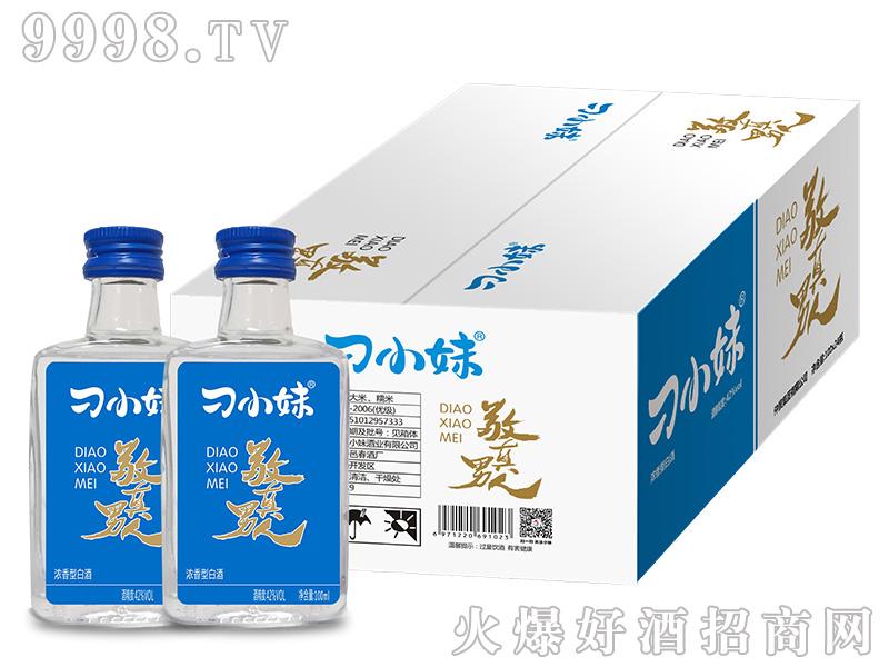 刁小妹敬真男人酒42°100mlx24(箱)浓香型白酒