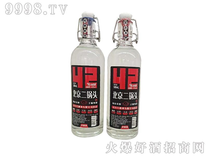 永定河北京二锅头42度500ml浓香型白酒