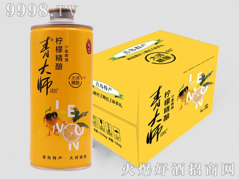 青大师柠檬精酿小麦啤酒1000mlX6