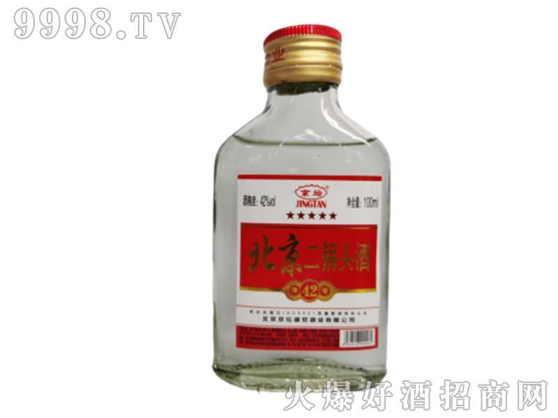 京坛北京二锅头酒(高小白瓶)清香型白酒【42°50°56°100ml】